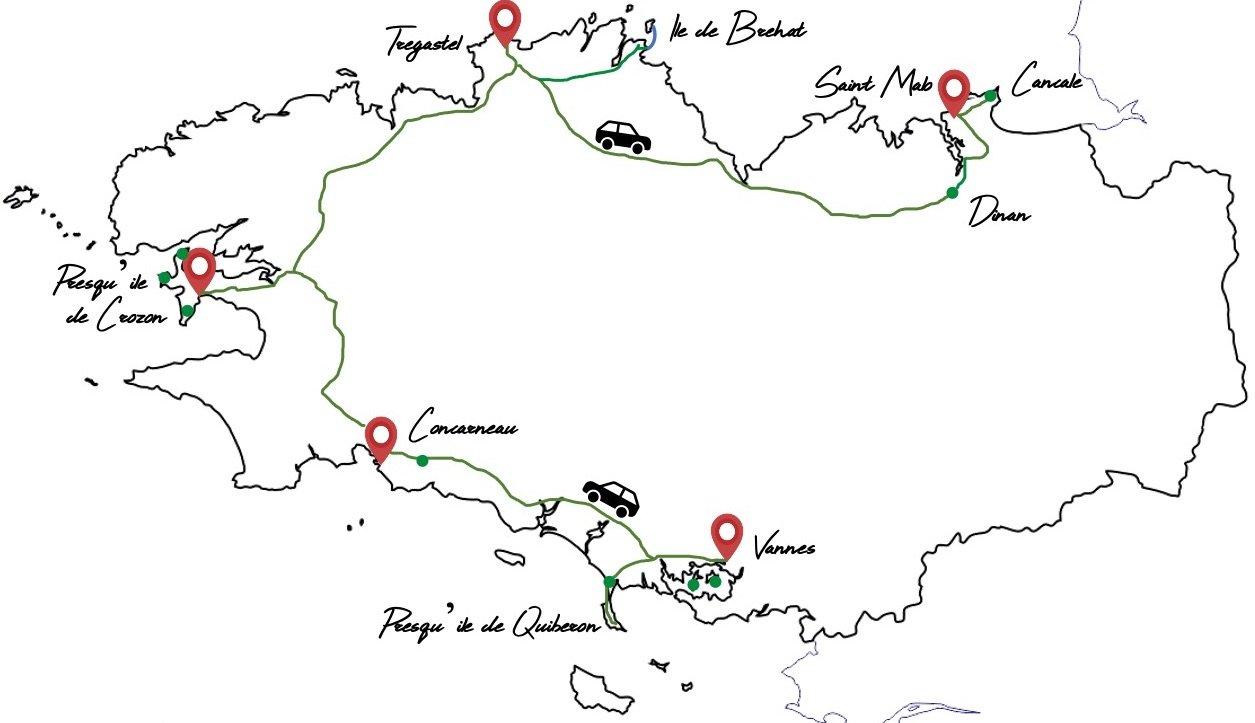 itinéraire road trip bretagne famille