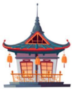 icone de temple japonais