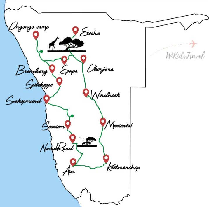 22 jours en namibie en tente en famille