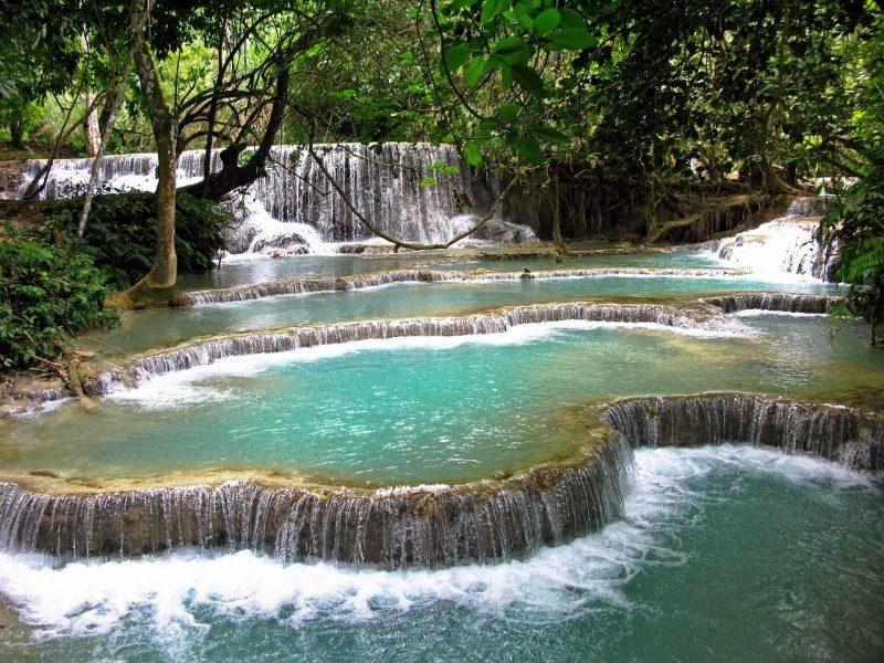 cascades luang prabang au laos voyage en famille