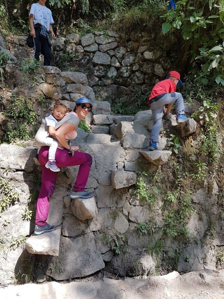 randonnée avec enfants au pérou machu picchu