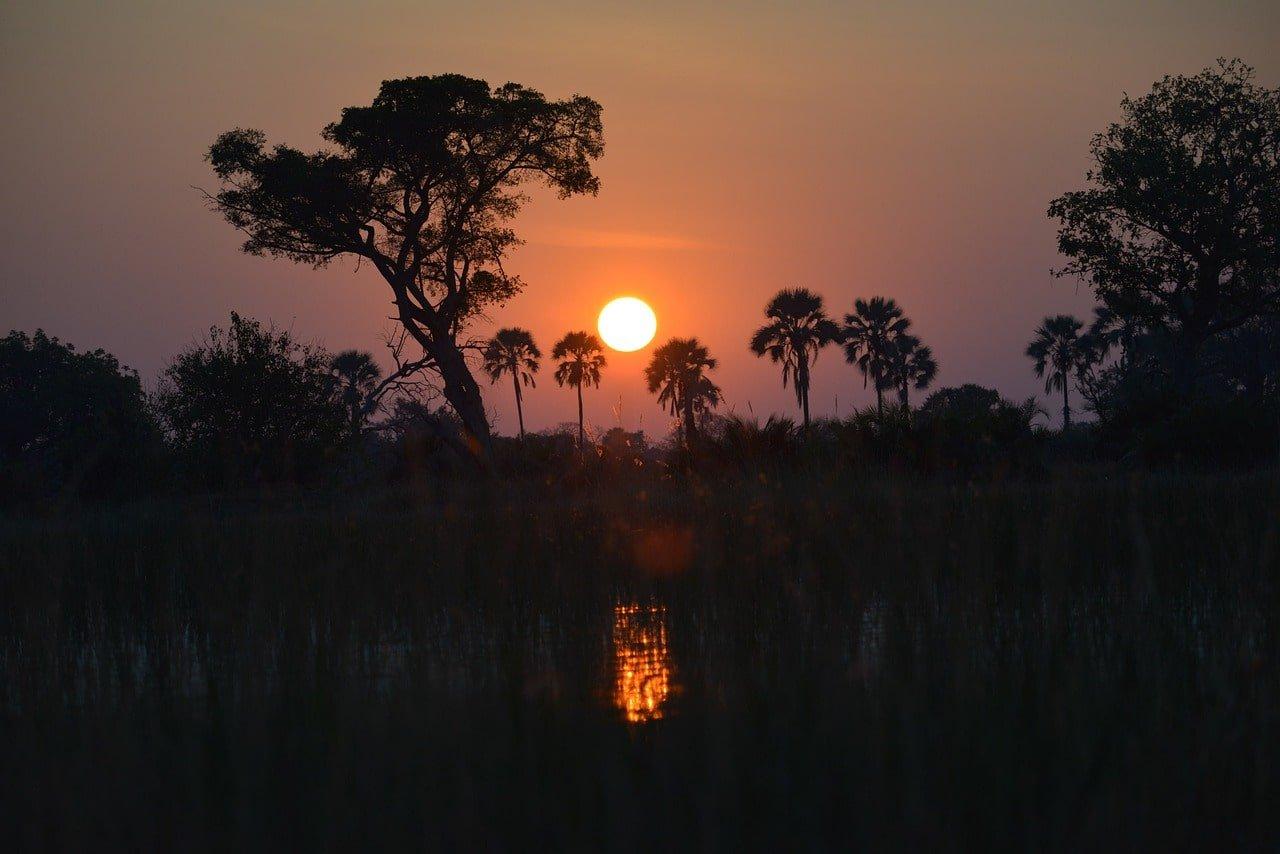 coucher de soleil en namibie voyage en famille