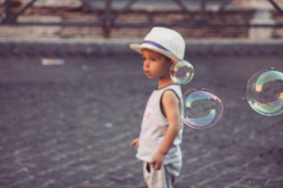 bulle et enfant
