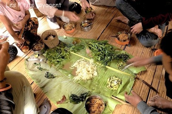 repas pique nique au laos voyage en famille