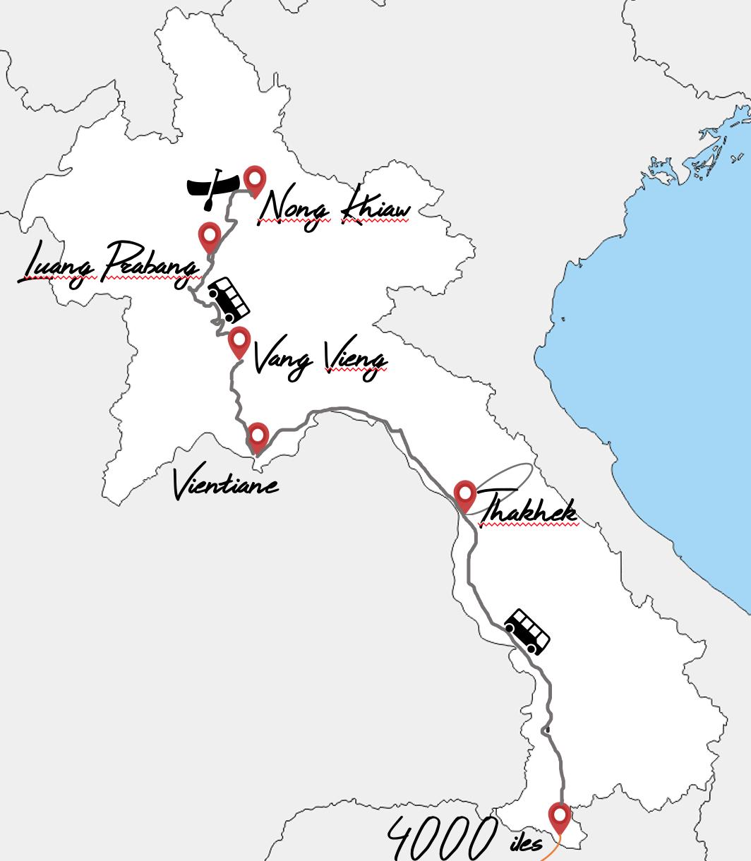 itinéraire 1 mois au laos avec 6 enfants