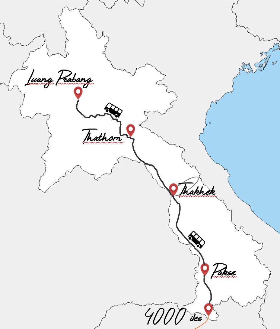 itinéraire 3 semaines au Laos en famille