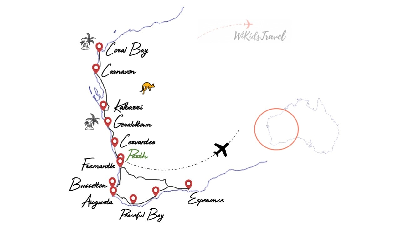 itinéraire 1 mois en australie côte ouest