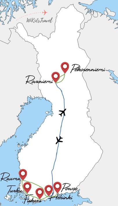 itinéraire 10 jours finlande voyage en famille