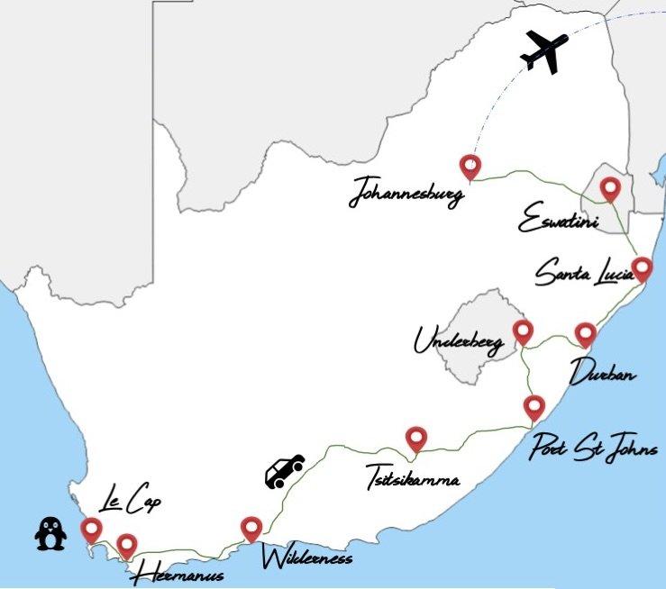 itinéraire 1 mois en afrique du sud en famille