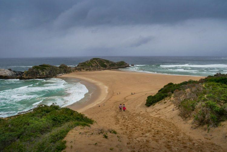 vue sur la mer et la plage en afrique du sud