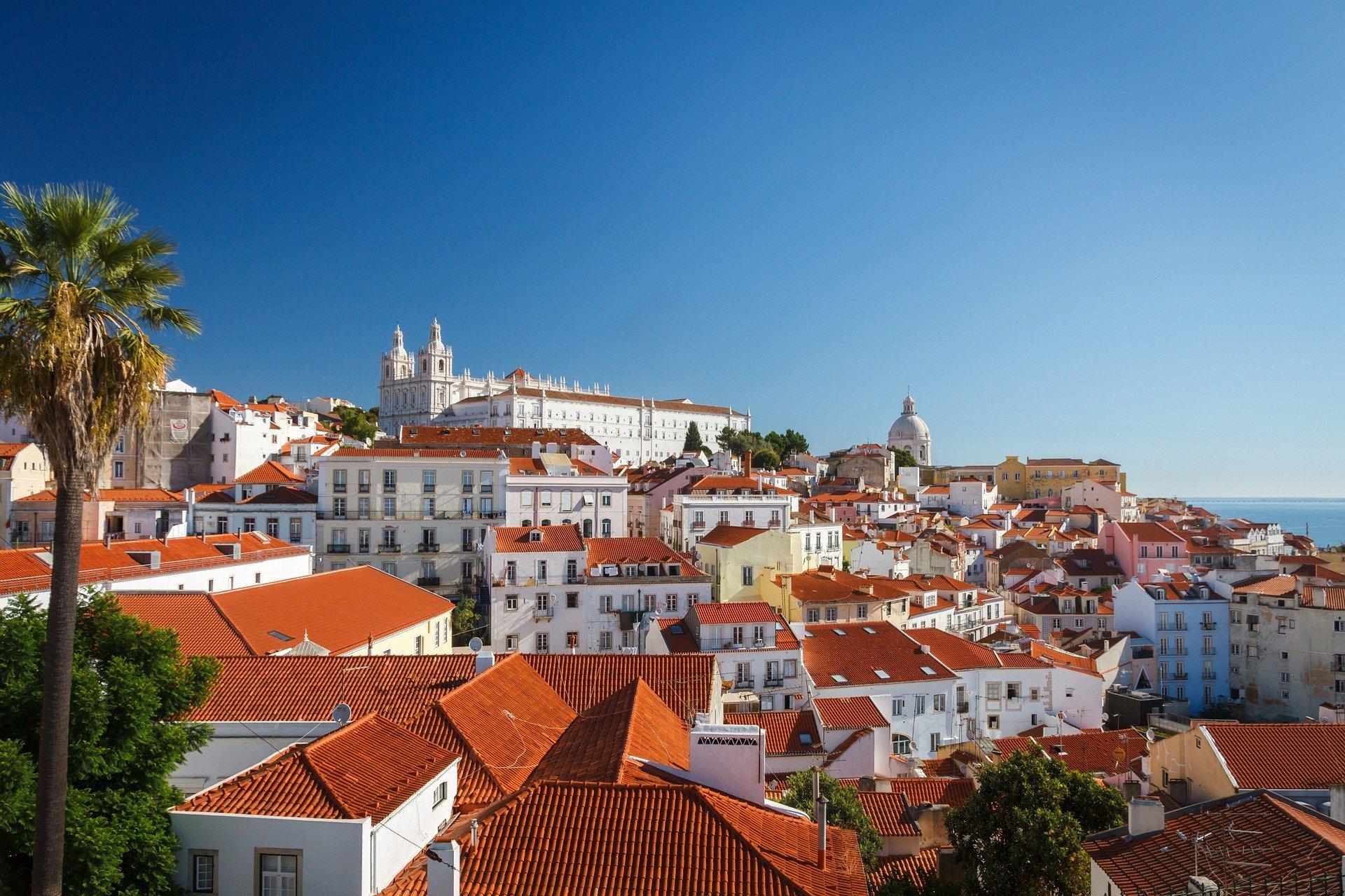Vue sur la ville de Lisbonne au Portugal