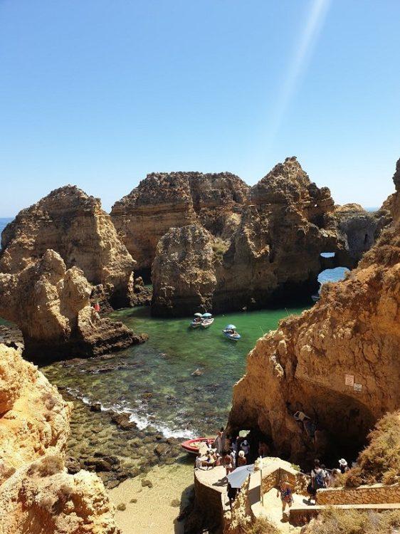 baignade a la plage au portugal