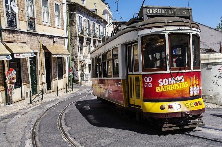 tram lisbonne ville voyage portugal