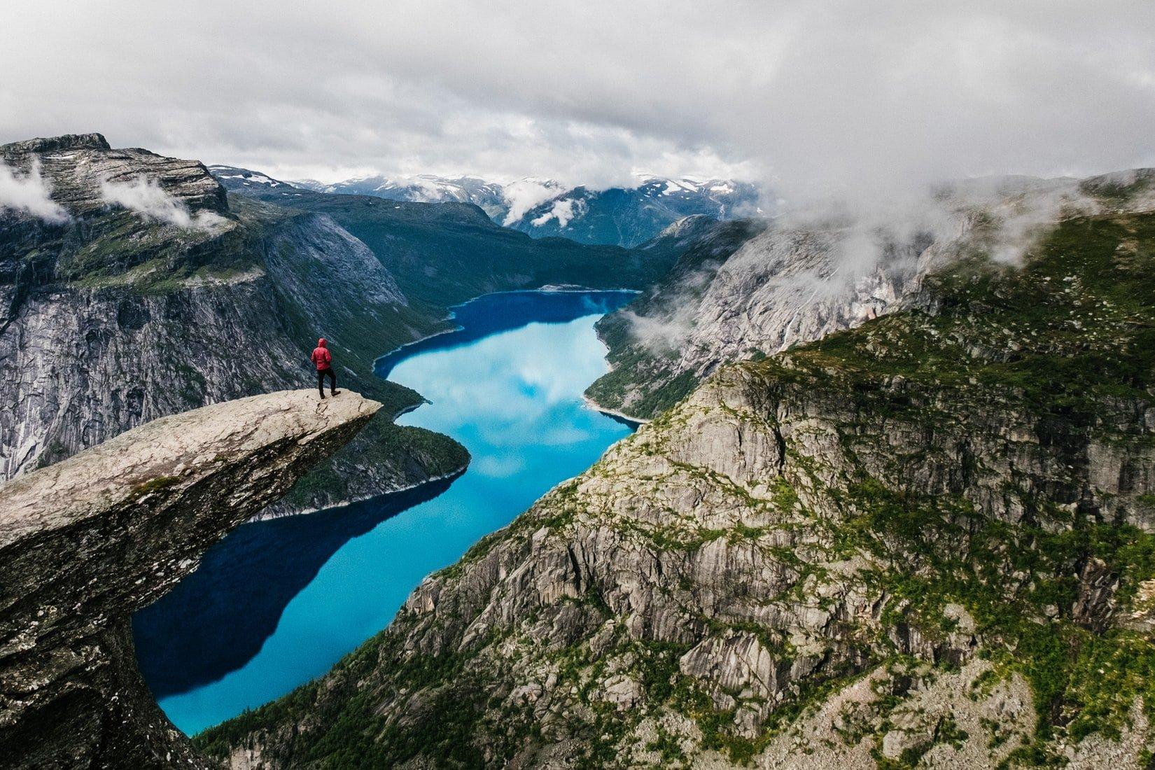 lac et montagne norvège voyage famille