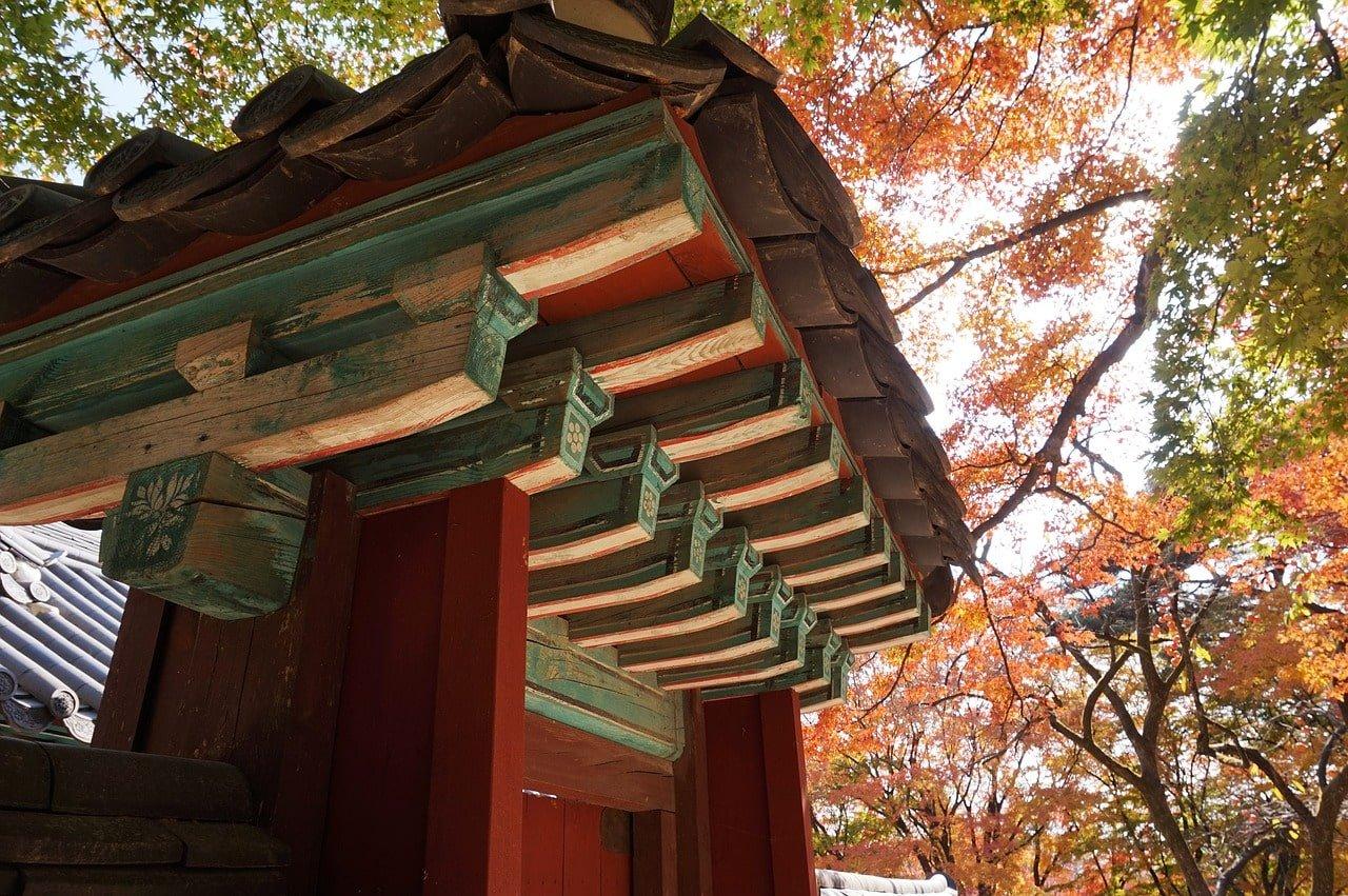 temple dans la nature en corée du sud