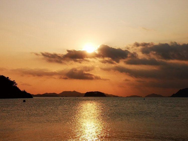 coucher de soleil en corée