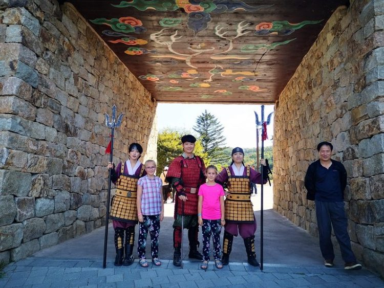 famille avec des samourais
