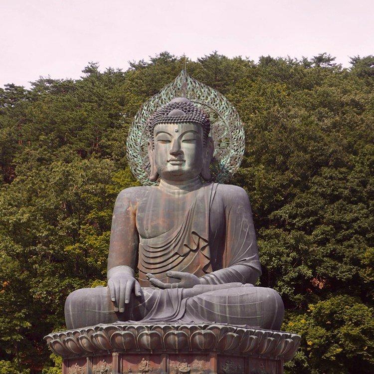 statue de bouddha dans la foret