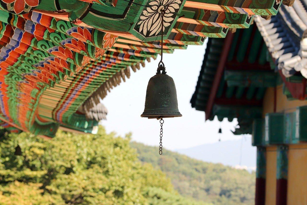 cloche dans un temple en corée du sud