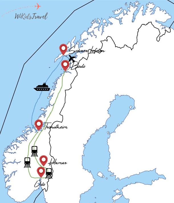 itinéraire 9 jours norvège 1 enfant