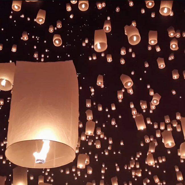 lacher lanternes thailande