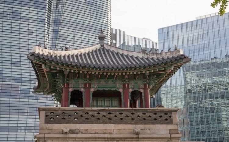 temple dans la ville de séoul en corée du sud