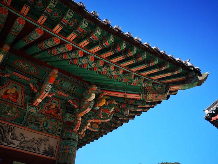 détail temple haiensa coree