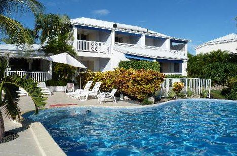 hotel avec piscine et cocotier guadeloupe