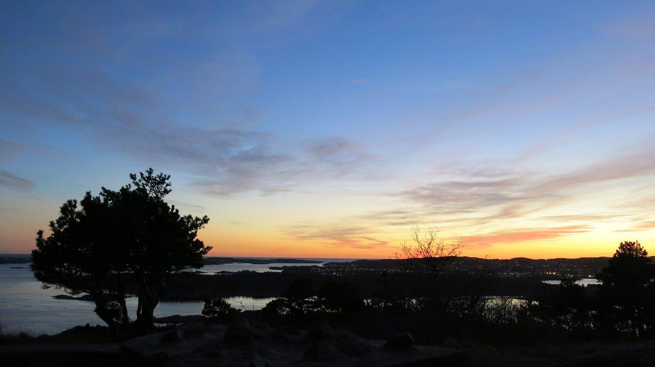 sunset en norvège