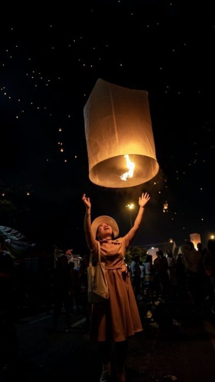 lacher lanterne thailande