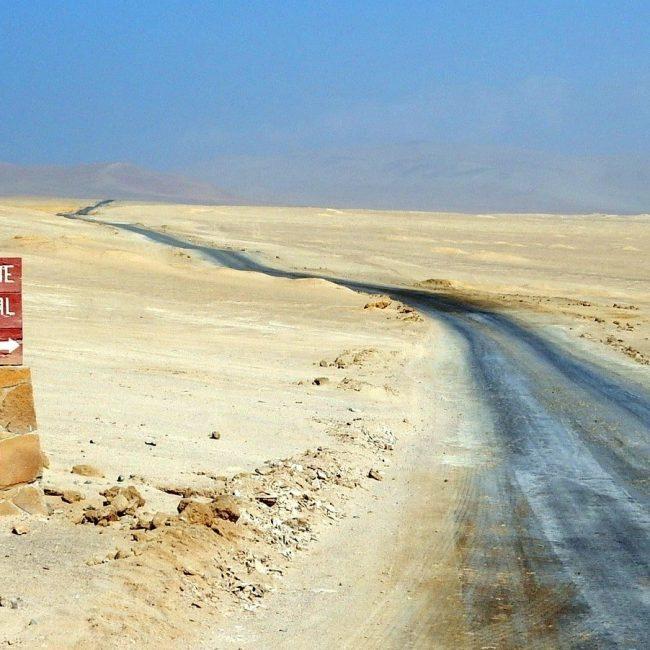 route dans le désert au Pérou