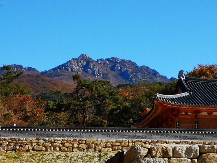 templestay haiensa vue montagne