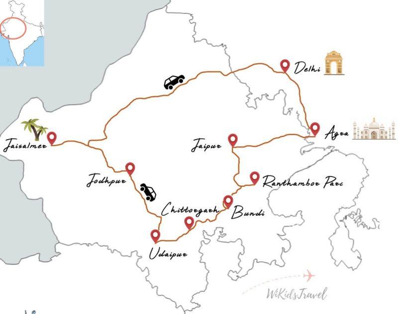 3 semaines de road trip au rajasthan en inde en famille
