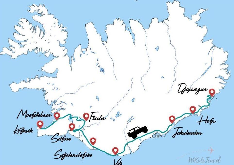 itineraire islande road trip hiver famille