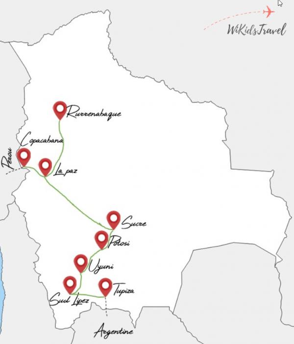 itinéraire 1 mois Bolivie voyage famille