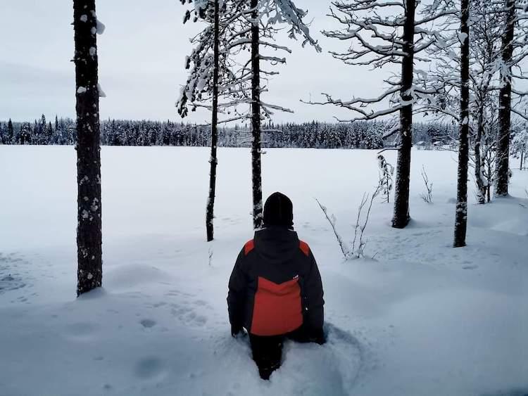 Road trip finlande hiver famille