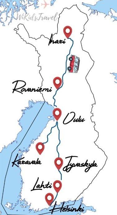 3 semaines road trip camping car finlande hiver