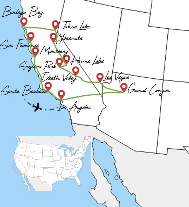 Itinéraire 1 mois Ouest americain voyage en famille
