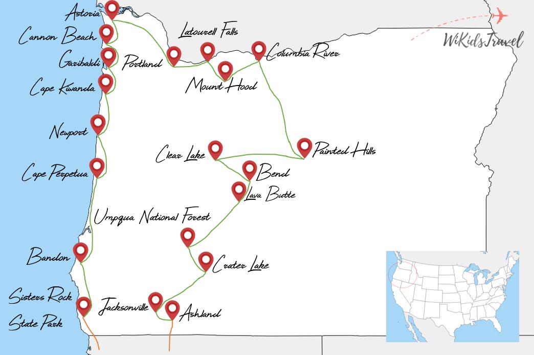 itinéraire 3 semaines road-trip oregon voyage famille