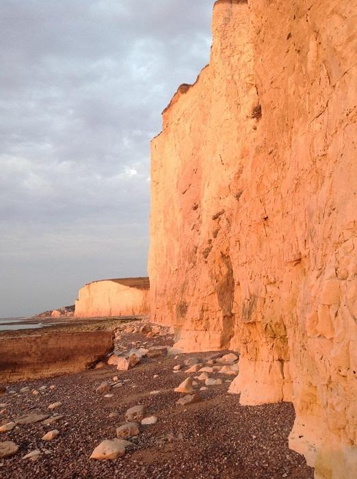 vacances en baie de somme voyage en famille sunset sur les falaises