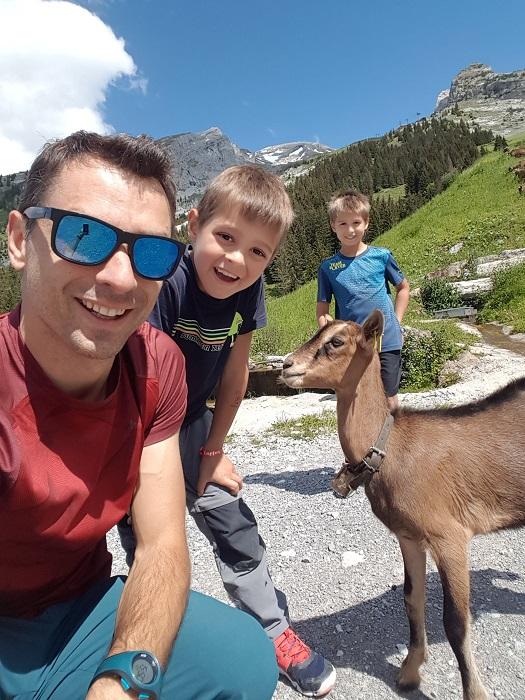 vacances en haute savoie en famille randonnée avec des chèvres