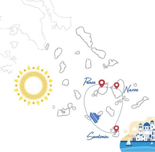 Notre itinéraire, 2 semaines dans les Cyclades