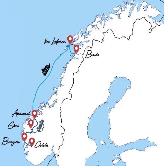 itinéraire norvege 2 semaines famille