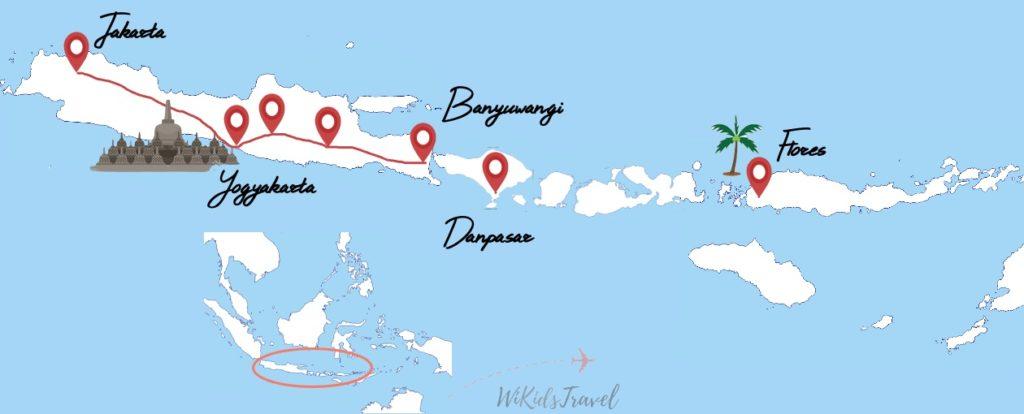 itinéraire indonésie famille