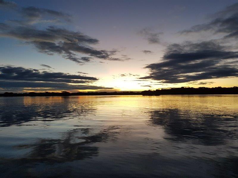 voyage en famille equateur sunset amazonie