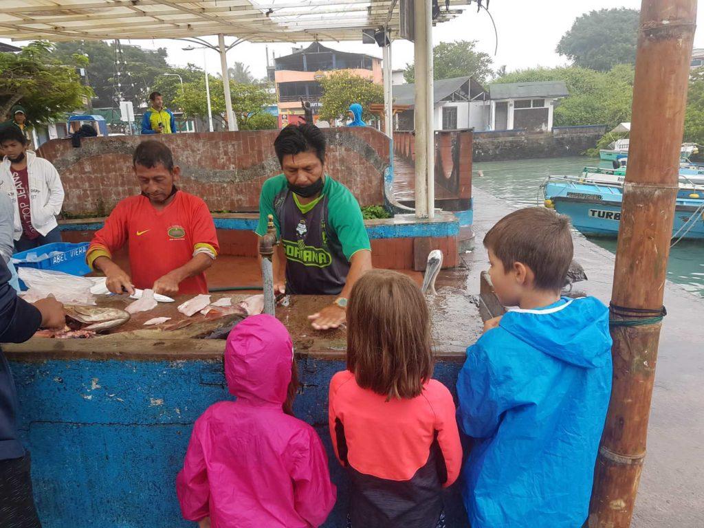voyage galapagos famille pêcheurs santa cruz