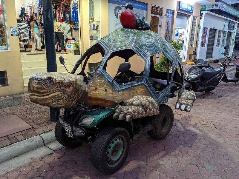 voyage galapagos famille transports taxi tortue
