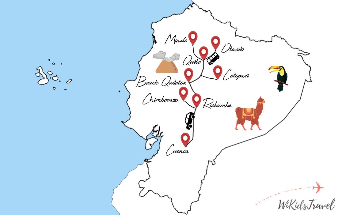 voyage en famille equateur itinéraire 3 semaines