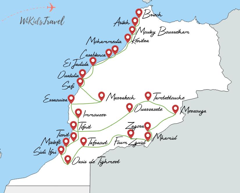 itinéraire 7 mois maroc en camping-car