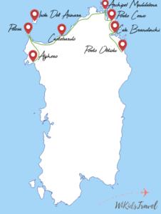 voyage sardaigne en famille itinéraire 2 semaines